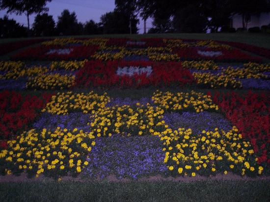 Middlebury, IN: Even the flowers look like a quilt!