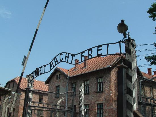 Eden Hotel: entrance to Auschwitz