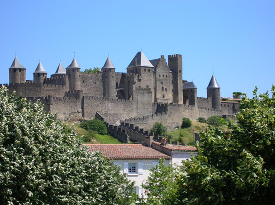Cité de Carcassonne, France : View of Carcassonne castle