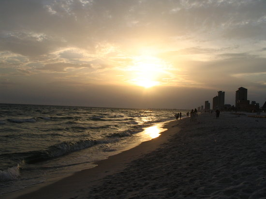 Panama City Beach, FL: Gulf Sunset in July