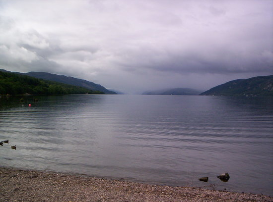 Looking out from the shores of Loch Ness