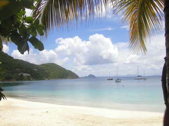 Tortola: Cane Garden Bay - looking out from Myett's