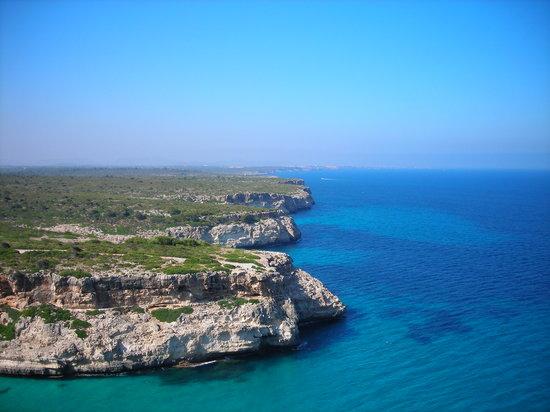 Calas de Mallorca, Spanje: vue du balcon de l'hôtel