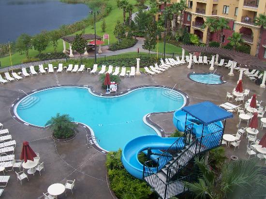 Wyndham Bonnet Creek Resort: Pool with slide