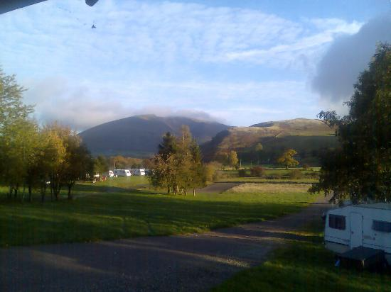 Dalebottom Farm Camping Site and Caravan Park: View of Blencathra