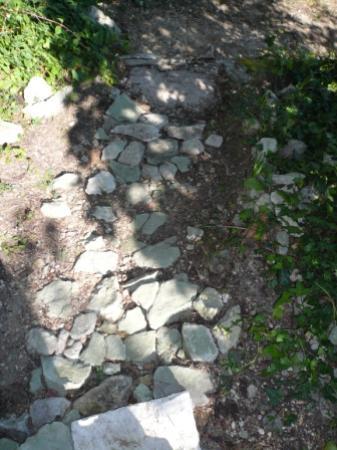 Chambre d'Hote Le Theron: Stone path