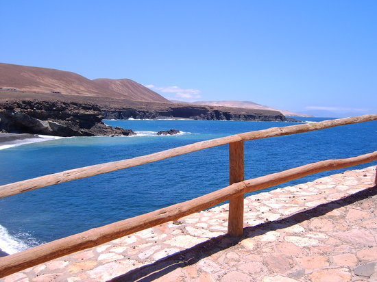 Fuerteventura, Spanje: Beach on Northwest coast
