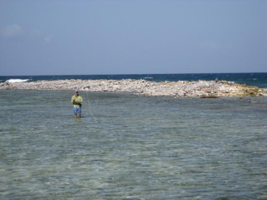 Bonefishing the flats in Guanaja