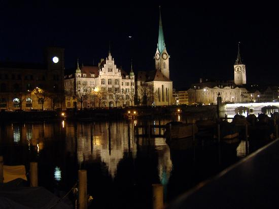 Zürih, İsviçre: Zurich at Night
