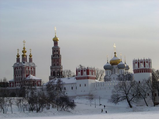 Moscow, Russia: Novodevichy Convent in winter