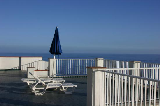 Hotel Le Sirene: The sun deck on the roof.  Amazing.