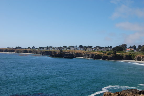 Mendocino, Californië: View from across the bay