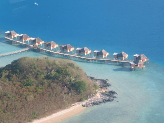 Likuliku Lagoon Resort: aerial view from the seaplane