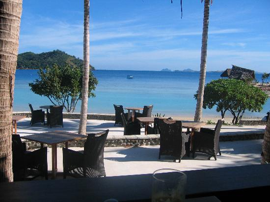 Likuliku Lagoon Resort: view from the restaurant