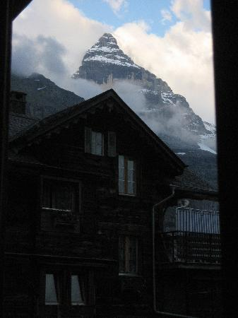 Chalet Fontana: View from our room- it was great sitting and watching the clouds roll in