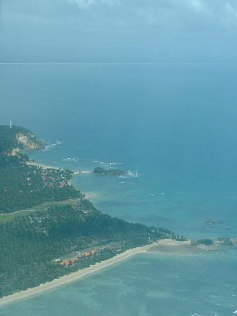 Villa das Pedras Pousada: view of morro de são paulo by plane