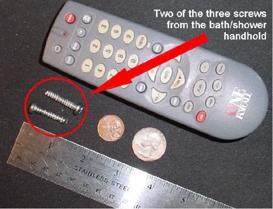Comfort Inn & Suites : handhold screws