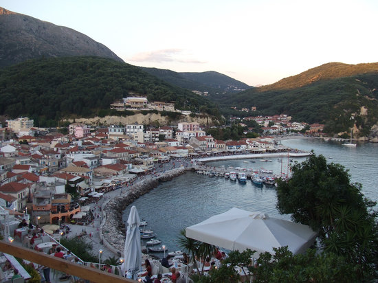 Parga, Grekland: View from Fort