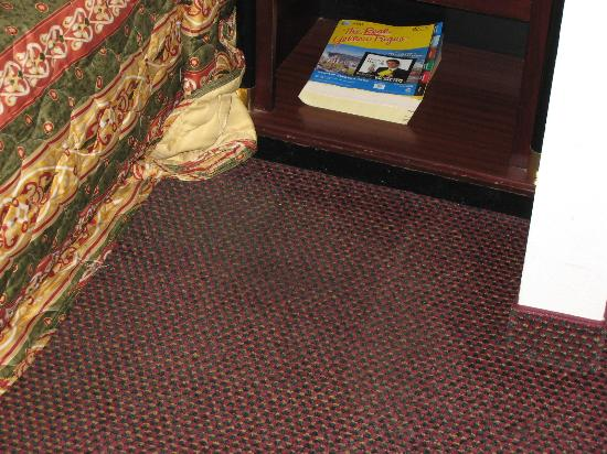 Days Inn & Suites Ridgeland: Carpet as you would step out of bed