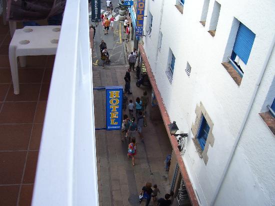 Hotel Simeon: la veduta dal balcone