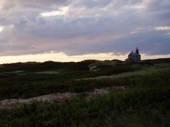 New Shoreham, RI: North Light dusk