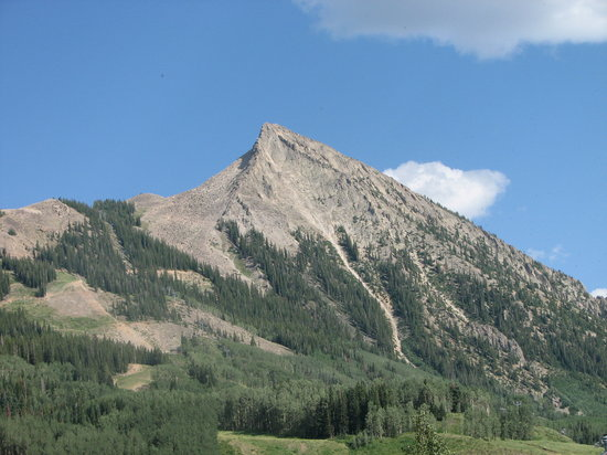 Crested Butte, CO: View of The Butte from our deck