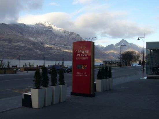 Crowne Plaza Queenstown: view from front of hotel