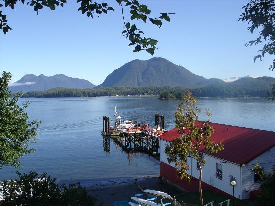 Long Beach Lodge Resort : View from a dock in Tofino