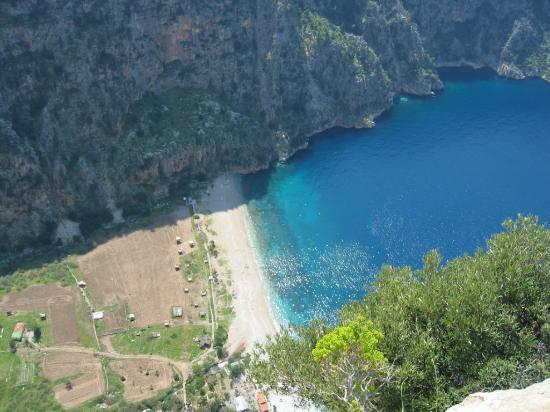 Oludeniz: A view of the valley, Faralya, near Olu Deniz, Turkey,  taken from about 1500 feet above the...