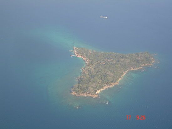 Flying into Port Blair, you fly over the Islands