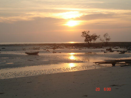 Port Blair, Indien: Sunrise, Wild Orchid's beach, Havelock Island