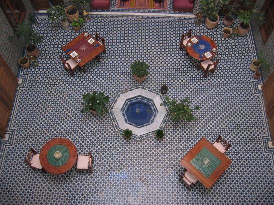 Dar Roumana: lobby area from the top