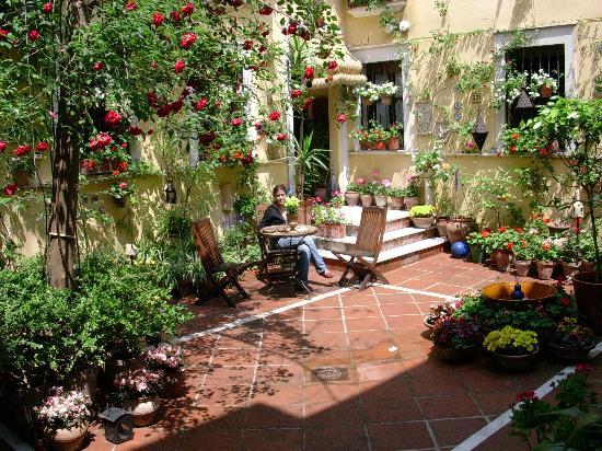 Hotel Gonzalez: Un patio fleuri pendant le concour 1ere semaine de Mai. Olé !