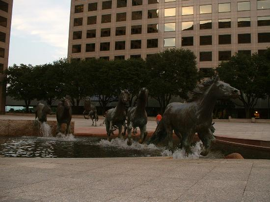 La Quinta Inn & Suites Dallas DFW Airport North: Las Colinas Mustangs, largest equine sculpture in the world