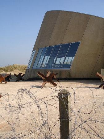 An exterior view of Utah Beach museum