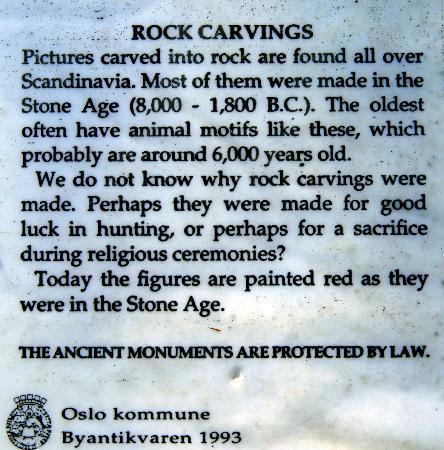 Rock Carvings, Ekeberg: Information about rock carvings