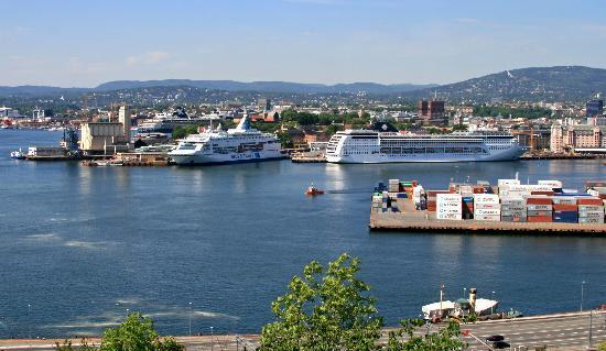 Rock Carvings, Ekeberg: View of Oslo from carvings site