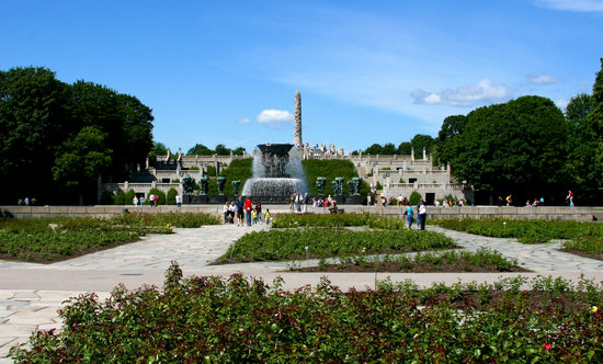Vigeland Museum: Park overview from the bridge