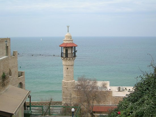 Tel Aviv, Israël: Mosque Minaret from Visitor's Center