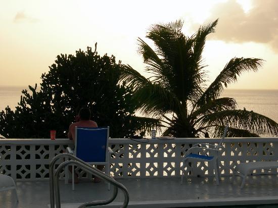 Green Monkey Inn & Dive Shop: Sunset at Bunkum Beach Guest House