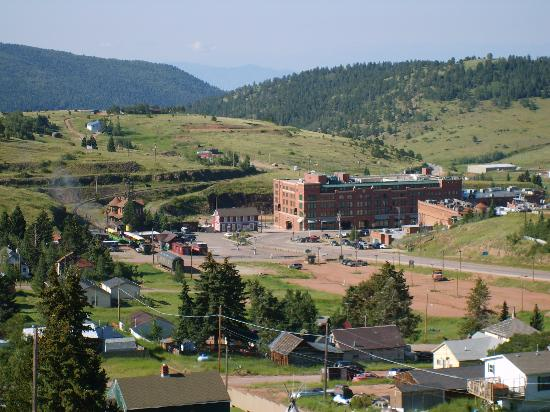 Gold King Mountain Inn: View of Cripple Creek from hotel