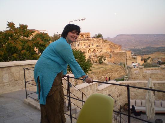 Eren on balconyof Serinn hotel