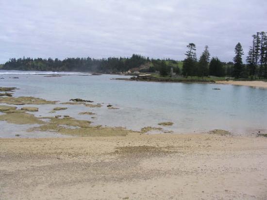 Looking towards reef at Emily Bay. Norfolk Island