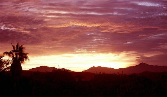 Todos Santos, Mexico: Sunup-Sierra de Laguna Mnts.