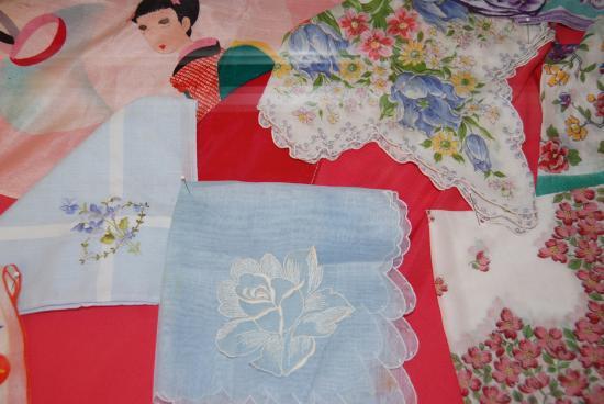 Latimer Quilt & Textile Center: Handmade Handkerchiefs at the Latimer Quilt and Textile Center, Tillamook, Oregon