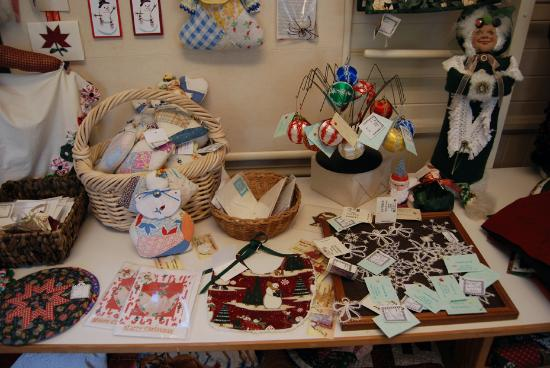 Tillamook, OR: Crafts on display at Latimer Quilt Center