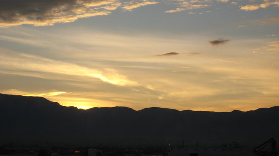Nuovo Messico: sun rise Sandia Mountains
