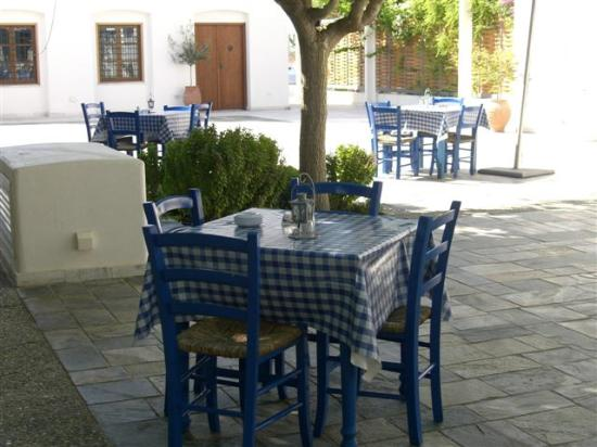 Aliathon Holiday Village: Restaurantterrasse