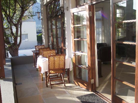 Derwent House Boutique Hotel : Or maybe breakfast al fresco!