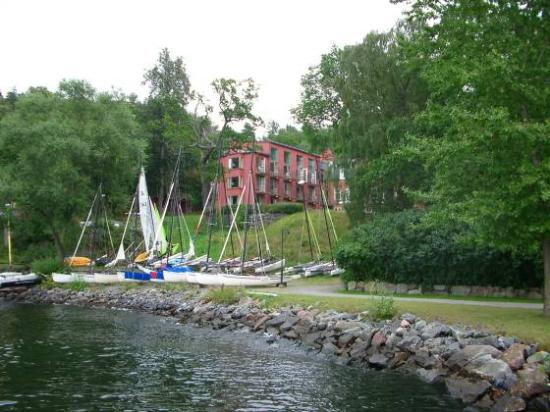 Hotel J from the shore of the Baltic